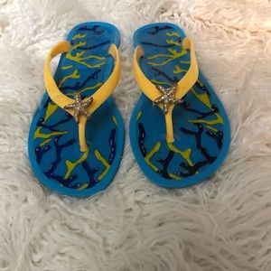 Blue Rubber Beach Sandals
